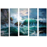 Designer  Multipanel Oil Painting 176