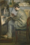 Frederic Bazille Painting at his Easel