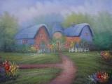 Garden Oil Painting 017