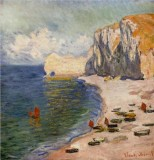The Beach and the Falaise d'Amont