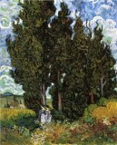 Cypresses with Two Women