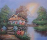 Garden Oil Painting 011