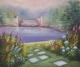 Garden Oil Painting 006