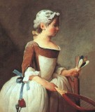 Girl with a Featherball Racket