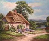 Garden Oil Painting 024