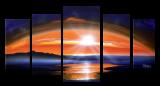 Designer  Multipanel Oil Painting G145