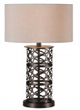 "Table Lamp: 23 x 15""xH9"" inches"