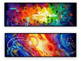 """Abstracts Vol 1 - 150: Set of 2 - 20"""" x 60 """" each,"""
