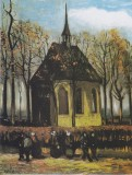 Chapel at Nuenen with Churchgoers
