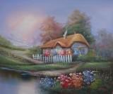 Garden Oil Painting 013