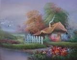 Garden Oil Painting 018