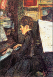 Mademoiselle Marie Dihau Playing the Piano