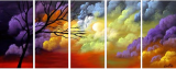 Designer  Multipanel Oil Painting G561