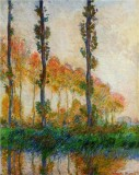 Three Poplar Trees in the Autumn
